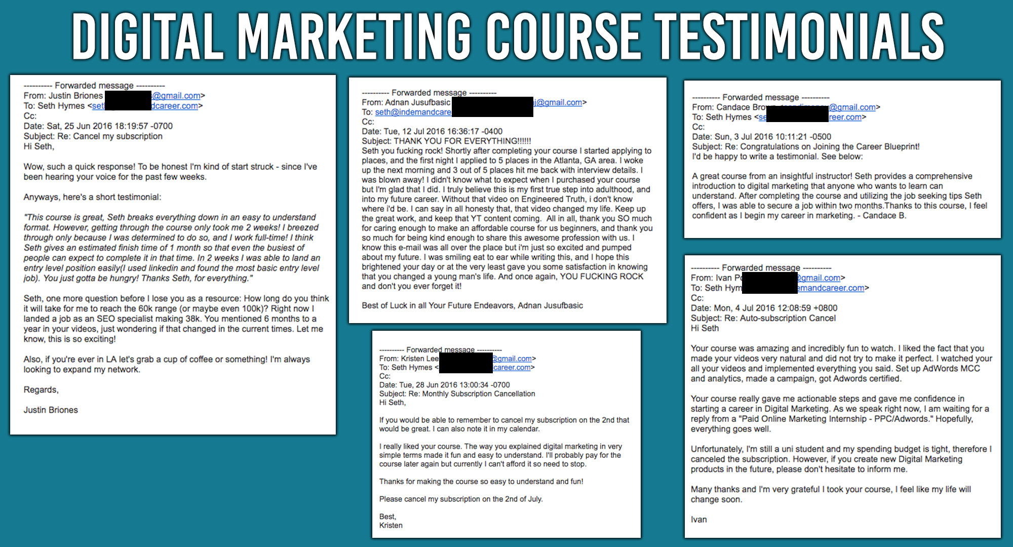 Seths digital marketing course is actually helping people get jobs digital marketing testimonials malvernweather Gallery